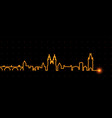 prague light streak skyline vector image