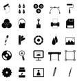 printing icon set vector image vector image