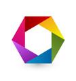 rainbow hexagon icon vector image