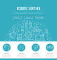 robotic surgery banner vector image vector image