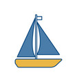 sailboat icon image vector image vector image