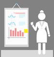 silhouette white sketch businesswoman and vector image vector image