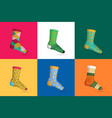 socks realistic multicolored design concept vector image vector image