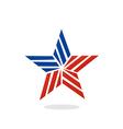 star stripe america logo vector image