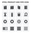 steel metal icon vector image vector image