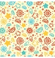 Summer shell pattern vector image vector image