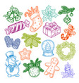 sweeties and candy for new year celebration vector image vector image