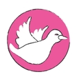 symbol dove icon image design vector image