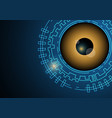 technology digital cyber security eye background vector image vector image