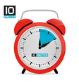 Ten 10 Minutes Red Alarm Clock vector image vector image