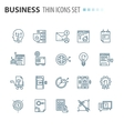thin line flat isolated business icons set vector image vector image