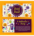 Trick or Treat Halloween Party Flat Style Template vector image vector image