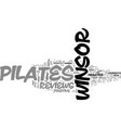 winsor pilates review pros and cons text word vector image vector image