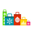 shopping bags color set vector image