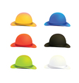 Six Colors Bowler or Derby Hat vector image