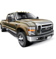 American full size pickup truck vector image