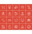 Pets sketch icon set vector image