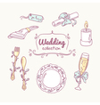 Wedding table decoration in doodle style Hand vector image