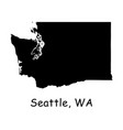 1296 seattle wa on washington state map vector image vector image