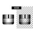 3d white realistic cosmetic package icon empty vector image vector image
