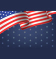 abstract empty background with american flag vector image vector image