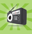 abstract radio icon with half tone background vector image vector image