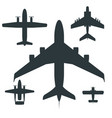 airplane silhouette aircraft vector image vector image