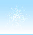 amazing falling snow christmas background subtle vector image vector image