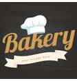bakery ribbon chef hat icon background imag vector image