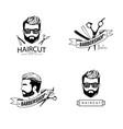 barber shop labels vector image vector image
