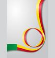 benin flag wavy background vector image vector image