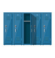 blue metal cabinets vector image vector image