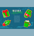 bright green design icons gingerbread vector image vector image