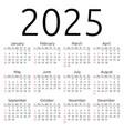 calendar 2025 sunday vector image vector image