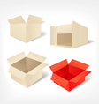 Cardboards set vector image