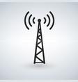 cell phone tower wifi antena black icon vector image vector image