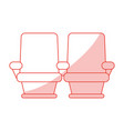 cinema seats design vector image vector image