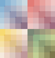 colored set seamless pattern vector image vector image