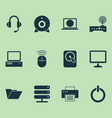 computer icons set collection of hdd printing vector image vector image