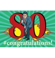 Congratulations 80 anniversary event celebration vector image vector image