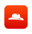 cowboy hat icon digital red vector image vector image
