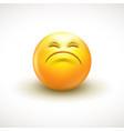 cute curious emoticon emoji vector image vector image