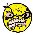 evil smiley vector image vector image