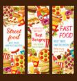 fast food restaurant menu banners vector image vector image