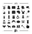 food easter and other web icon in black style vector image vector image