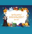 halloween horror pumpklins ghost vampire skull vector image vector image