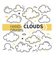 hand-drawn clouds collection - set vector image