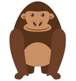 happy gorilla on white background vector image