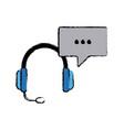 Headphones technology volume music listen vector image