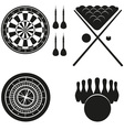 icon of games for leisure black silhouette vector image